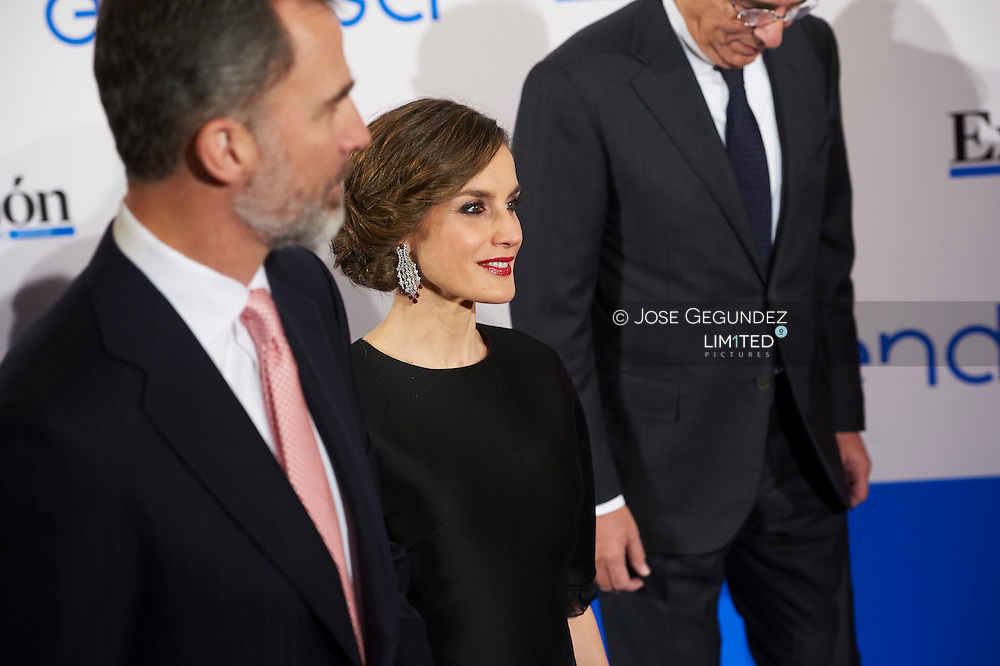 King Felipe VI of Spain, Queen Letizia of Spain attended an event to commemorate the 30th anniversary of the Expansion Newspaper at Palace Hotel on February 7, 2017 in Madrid