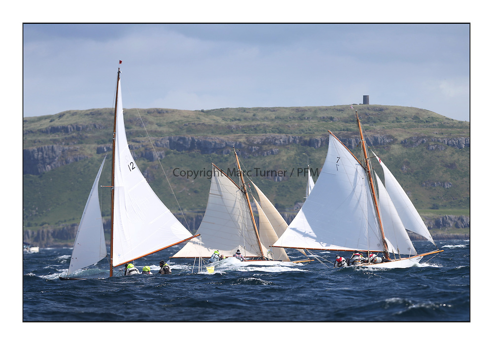 Day five of the Fife Regatta, Race from Portavadie on Loch Fyne to Largs. <br /> <br /> Coralie, Ewan McEwan, GBR, Bermudan Sloop, Wm Fife 3rd, 1928, Fiona, Didier Cotton, FRA, Gaff Cutter, Wm Fife 3rd, 2005, Oblio, Gordon Turner, GBR, Gaff Cutter, Wm Fife 3rd, 2007<br /> <br /> * The William Fife designed Yachts return to the birthplace of these historic yachts, the Scotland's pre-eminent yacht designer and builder for the 4th Fife Regatta on the Clyde 28th June–5th July 2013<br /> <br /> More information is available on the website: www.fiferegatta.com
