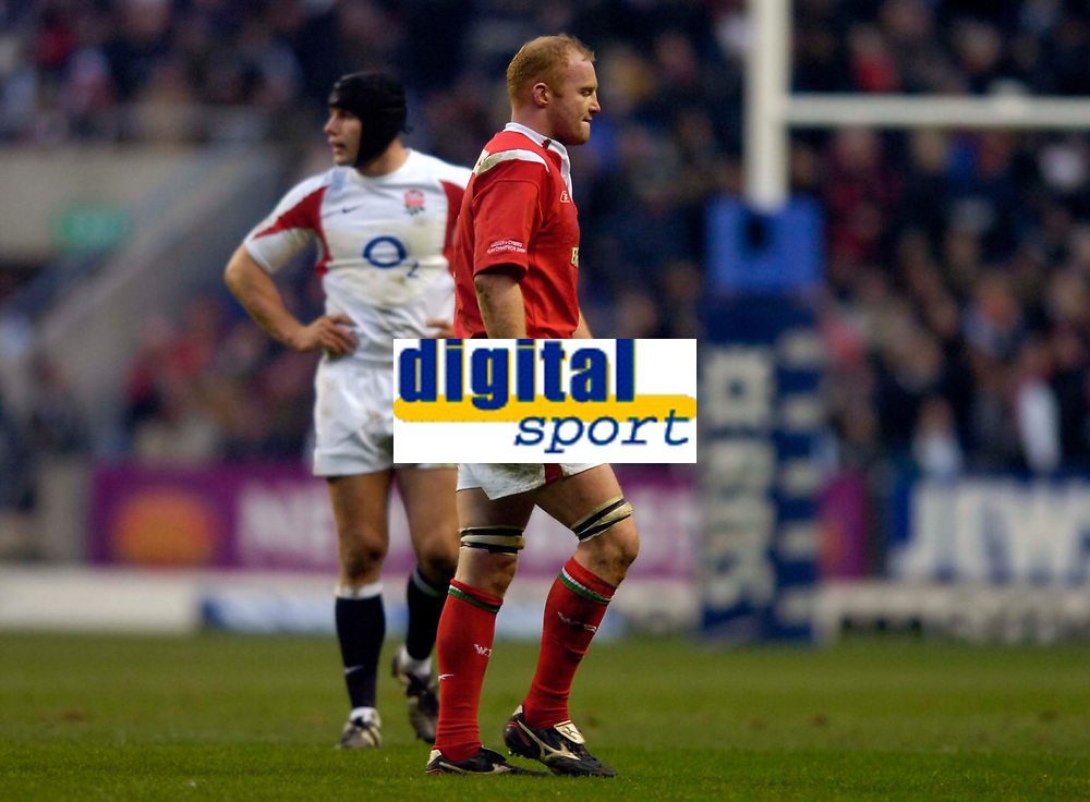 Photo: Richard Lane.<br />England v Wales. RBS Six Nations. 04/02/2006.<br />Wales' Martyn Williams walks to the sin bin.