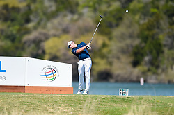 March 21, 2018 - Austin, TX, U.S. - AUSTIN, TX - MARCH 21: Tyrrell Hatton hits a tee shot during the First Round of the WGC-Dell Technologies Match Play on March 21, 2018 at Austin Country Club in Austin, TX. (Photo by Daniel Dunn/Icon Sportswire) (Credit Image: © Daniel Dunn/Icon SMI via ZUMA Press)