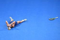 January 27, 2018 - Melbourne, Australia - Caroline Wozniacki (Den) defeats Simona Halep to win 2018: Australian Open: Women's Singles Final. (Credit Image: © Panoramic via ZUMA Press)