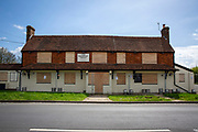 The Rainbow Trout, a disused pub on Chitcombe Road, Broad Oak, Rye, TN31 6EU. Since the 1970's, nearly 30,000 pubs have shut down in the UK due to various reasons, including the increased price of a pint and the 2007 smoking ban. (photo by Andrew Aitchison / In pictures via Getty Images)