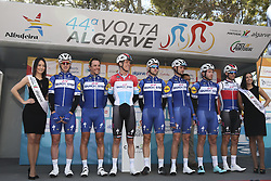 February 14, 2018 - Lagos, Portugal - Quick-Step Floors before the 1st stage of the cycling Tour of Algarve between Albufeira and Lagos, on February 14, 2018. (Credit Image: © Str/NurPhoto via ZUMA Press)