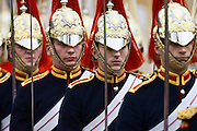 Soldiers of The Blues and Royals regiment in the UK