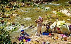 Women washing clothes in the Todra River, Morocco<br /> <br /> (c) Andrew Wilson | Edinburgh Elite media