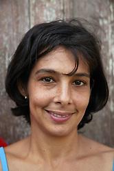 Portrait of white Cuban woman,