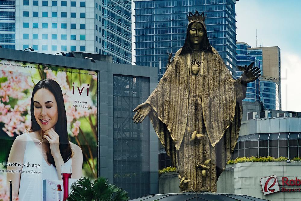 EDSA shrine, Ortigas Center, Quezon City, Philippines, Southeast Asia, 2016