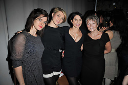 Left to right, JADE DAVIDSON, HOLLY DAVIDSON, SADIE FROST and their mother MARY DAVIDSON at the 2nd Rodial Beautiful Awards in aid of the Hoping Foundation held at The Sanderson Hotel, 50 Berners Street, London on 1st February 2011.