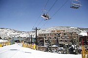 SHOT 3/2/17 12:39:54 PM - Park City, Utah lies east of Salt Lake City in the western state of Utah. Framed by the craggy Wasatch Range, it's bordered by the Deer Valley Resort and the huge Park City Mountain Resort, both known for their ski slopes. Utah Olympic Park, to the north, hosted the 2002 Winter Olympics and is now predominantly a training facility. In town, Main Street is lined with buildings built primarily during a 19th-century silver mining boom that have become numerous restaurants, bars and shops. (Photo by Marc Piscotty / © 2017)