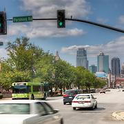 Pershing Rd and Grand Avenue, downtown Kansas City, Missouri. Taken for Rhythm Engineering.