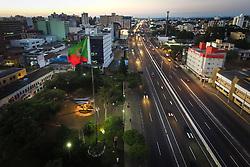 Bandeira de Canoas foi adotada na gestão do prefeito Geraldo Gilberto Ludwig, entre 24 de novembro de 1978 e 5 de julho de 1979. O verde e o amarelo representam o Brasil e o vermelho representa o sangue que foi dado em nome da liberdade do Rio Grande do Sul. FOTO: Jefferson Bernardes/ Agência Preview