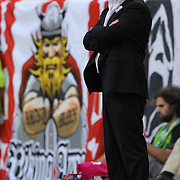 New York Red Bulls coach Hans Backe on the sideline during the New York Red Bulls V Chicago Fire Major League Soccer regular season match at Red Bull Arena, Harrison. New Jersey. USA. 6th October 2012. Photo Tim Clayton