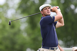 May 30, 2019 - Dublin, OH, U.S. - DUBLIN, OH - MAY 30: Bryson DeChambeau watches his tee shot during the first round of The Memorial Tournament on May 30th 2019  at Muirfield Village Golf Club in Dublin, OH. (Photo by Ian Johnson/Icon Sportswire) (Credit Image: © Ian Johnson/Icon SMI via ZUMA Press)