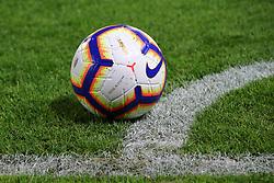 """Foto LaPresse/Filippo Rubin<br /> 03/04/2019 Ferrara (Italia)<br /> Sport Calcio<br /> Spal - Lazio - Campionato di calcio Serie A 2018/2019 - Stadio """"Paolo Mazza""""<br /> Nella foto: PALLONE SERIE A <br /> <br /> Photo LaPresse/Filippo Rubin<br /> April 03, 2019 Ferrara (Italy)<br /> Sport Soccer<br /> Spal vs Lazio - Italian Football Championship League A 2018/2019 - """"Paolo Mazza"""" Stadium <br /> In the pic: SERIE A BALL"""