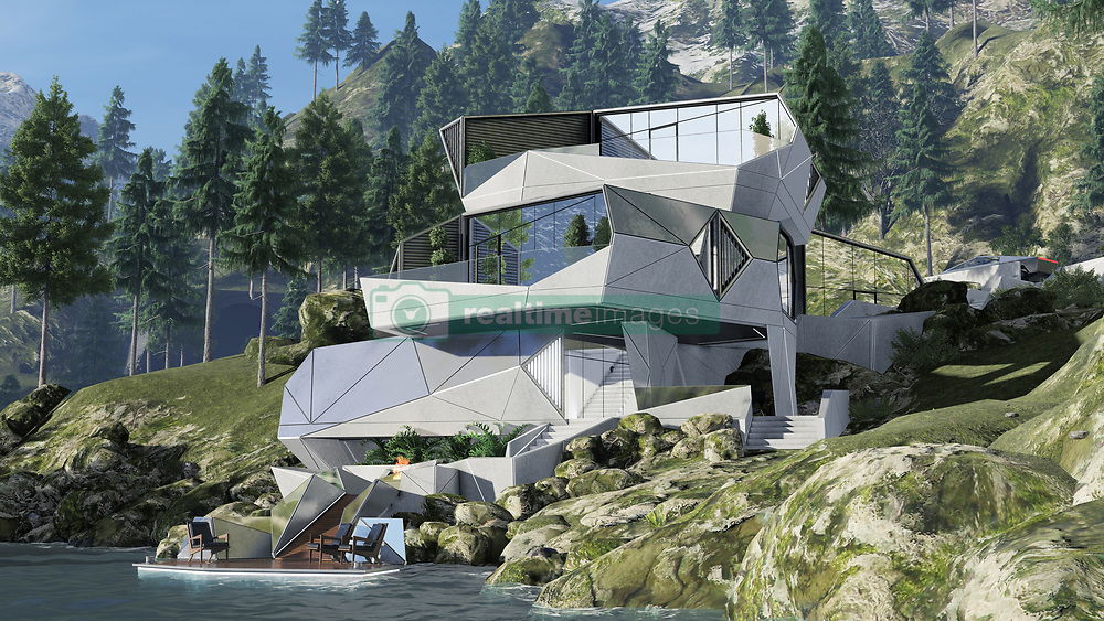 """Architects are often asked to think about houses for the next millennium - the house of the future.<br /> <br /> And that's precisely what architect Alex Wyzhevsky of Modern House Architecture & Design in Russia has done.<br /> <br /> Alex has come up with a bunker designed to be a safe harbour on a planet """"heading towards the apocalypse and a time when """"money, greed and a thirst for power rule the whole world, and military conflicts, riots, revolutions take place around this"""".<br /> <br /> His house is called the CyberHouse Life, and this is why it's needed: """"After the outbreak of the zombie virus on Earth, dark times have come, the borders of countries have been erased, and states no longer exist.<br /> <br /> """"Chaos, devastation, agony are everywhere. Only those who were ready for such a turn of events survived and took care of a reliable shelter. An important role was played by private bunker houses. As one of the most reliable shelters, Cyber House has established itself.<br /> <br /> """"The survivors are trying to rethink their lives. Mutual assistance has grown significantly. People seek to help each other. New leaders are trying to unite the survivors.<br /> <br /> """"Somewhere in the ocean, a small group of islands, to which the best representatives of mankind from all countries were sent to save, created a new state. A state that preaches love and kindness, mutual assistance and openness.<br /> <br /> """"Such a policy has led to the fact that they have achieved tremendous success in relations and in a short time have formed into a highly developed civilisation.<br /> <br /> """"And of course, such a rapid development has greatly influenced architecture. It has become more comfortable and environmentally friendly, and the use of new materials and technologies has allowed us to take a different look at our usual living spaces, translating them into the highest possible level of comfort.<br /> <br /> """"Their housing is not only beautiful, but also as safe as possible. """