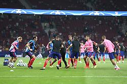 September 27, 2017 - Madrid, Spain - Atletico Madrid's players warms before the UEFA Champions League Group C football match Club Atletico de Madrid vs Chelsea FC at the Metropolitan stadium in Madrid on September 27, 2017. (Credit Image: © Ahmad Mora/NurPhoto via ZUMA Press)