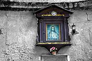 """Unreliable Sightings No: 26 "" - Sacred Heart, Palermo, Sicily. Selective colour photo art print by photographer Paul E Williams."