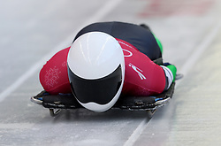 Nigeria's Simidele Adeagbo during the Women's Skeleton practice on day three of the PyeongChang 2018 Winter Olympic Games in South Korea. PRESS ASSOCIATION Photo. Picture date: Monday February 12, 2018. See PA story OLYMPICS Skeleton. Photo credit should read: David Davies/PA Wire. RESTRICTIONS: Editorial use only. No commercial use.