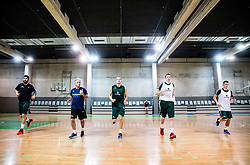 Ziga Dimec, Miljan Grbovic, Jaka Blazic, Miha Lapornik and Luka Rupnik during practice session of Slovenian National basketball team before FIBA Basketball World Cup China 2019 Qualifications against Belarus, on November 20, 2017 in Arena Stozice, Ljubljana, Slovenia. Photo by Vid Ponikvar / Sportida