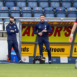 20MAR21 Falkirk's coach Lee Miller. Falkirk 2 v 0 Montrose, Scottish Football League Division One game played 20/3/2021 at The Falkirk Stadium.