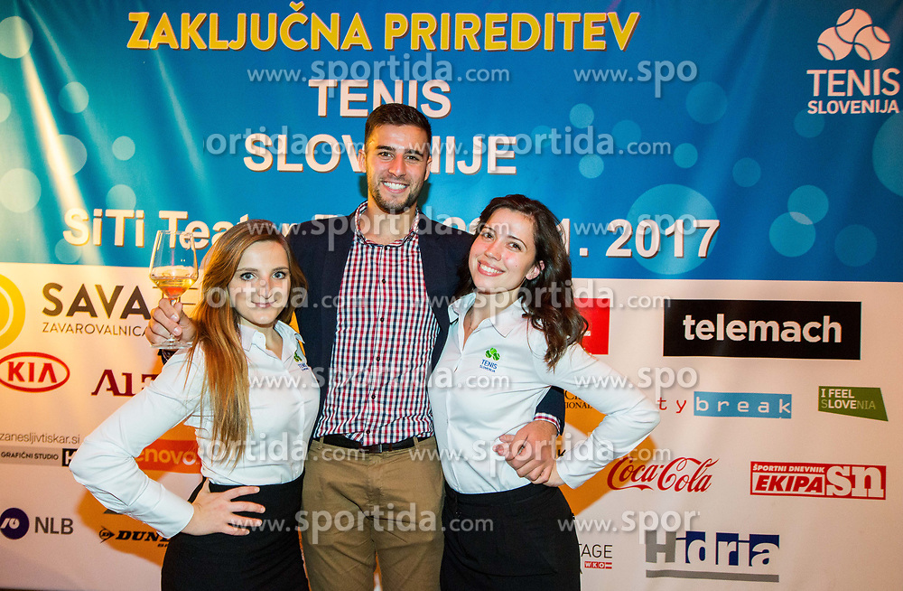 Aljaz Radinski during Slovenian Tennis personality of the year 2017 annual awards presented by Slovene Tennis Association Tenis Slovenija, on November 29, 2017 in Siti Teater, Ljubljana, Slovenia. Photo by Vid Ponikvar / Sportida