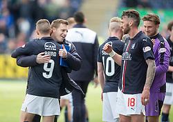 Falkirk players at the end. <br /> Falkirk 1 v 0 Morton, Scottish Championship game  played 1/5/2016 at The Falkirk Stadium.