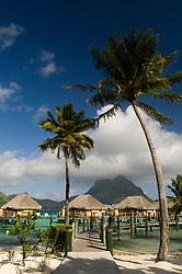 Bora-Bora, French Polynesia - 10/17/2006 - Pearl Beach Resort bungalows.(Photo by Sharpshooters/VWPics) *** Please Use Credit from Credit Field *** *** Please Use Credit from Credit Field ***