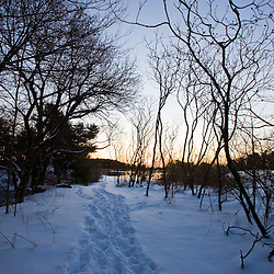 Goose Island Trail in Portsmouth, New Hampshire.