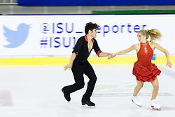 Holly Moore and Daniel Klaber of USA at ISU Junior Grand Prix of Figure Skating Ljubljana Cup 2014 on August 29, 2014 in Hala Tivoli, Ljubljana, Slovenia. Photo by Matic Klansek Velej / Sportida