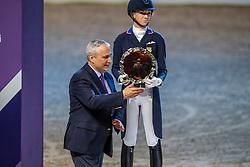 Graves Laura, USA, De Vos Ingmar, BEL<br /> LONGINES FEI World Cup™ Finals Gothenburg 2019<br /> © Hippo Foto - Dirk Caremans<br /> 06/04/2019