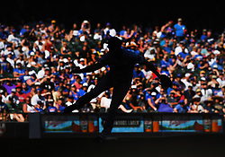 June 13, 2018 - Milwaukee, WI, U.S. - MILWAUKEE, WI - JUNE 13: Milwaukee Brewers Pitcher Corey Knebel (46) delivers a pitch during a MLB game between the Milwaukee Brewers and Chicago Cubs on June 13, 2018 at Miller Park in Milwaukee, WI. The Brewers defeated the Cubs 1-0.(Photo by Nick Wosika/Icon Sportswire) (Credit Image: © Nick Wosika/Icon SMI via ZUMA Press)