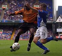 Fotball<br /> England<br /> Foto: SBI/Digitalsport<br /> NORWAY ONLY<br /> <br /> Coca-Cola Championship.<br /> Ipswich Town v  Wolverhampton Wanderers 30/08/2004<br /> <br /> Ipswich Town's Ian Westlake and Wolverhampton Wanderers' Shaun Newton