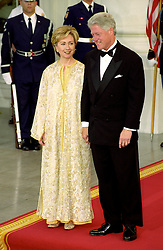 United States President Bill Clinton, right, and first lady Hillary Rodham Clinton, left, stand on the North Portico of the White House in Washington, D.C. awaiting the arrival of King Mohammed VI and HRH Princess Lalla Meryem of Morocco for a State Dinner in the King's honor at the White House in Washington, DC on June 20, 2000. Photo by Ron Sachs/CNP/ABACAPRESS.COM