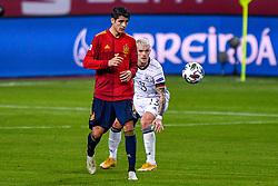 SEVILLE, SPAIN - Tuesday, November 17, 2020: Alvaro Morata of Spain, Philipp Max of Germany during the UEFA Nations League match between Spain and Germany at Estadio La Cartuja de Sevilla on november 17, 2020 in Seville, Spain (Photo by Jeroen Meuwsen/Orange Pictures)