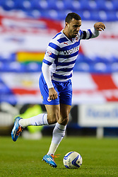 Hal Robson-Kanu (WAL) of Reading in action - Photo mandatory by-line: Rogan Thomson/JMP - 07966 386802 - 14/04/2014 - SPORT - FOOTBALL - Madejski Stadium, Reading - Reading v Leicester City - Sky Bet Football League Championship.