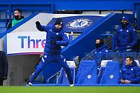 Football - 2020 / 2021 Premier League - Chelsea vs Burnley - Stamford Bridge<br /> <br /> Chelsea head coach Thomas Tuchel reacts on the touchline.<br /> <br /> COLORSPORT/ASHLEY WESTERN