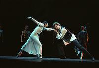 "Nina Ananiashvili and Company on her tour to the UK in 2004.<br /> ""Leah"", choreographed by Alexei Ratmansky<br /> Dancers: Nina Ananiashvili, Andrei Uvarov"