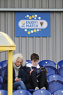 AFC Wimbledon fans prior to kick off during the EFL Sky Bet League 1 match between AFC Wimbledon and Oxford United at the Cherry Red Records Stadium, Kingston, England on 10 March 2018. Picture by Matthew Redman.
