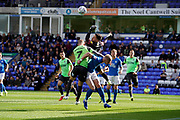 Christy Pym of Peterborough United saves a AFC Wimbledon cross <br /> during the EFL Sky Bet League 1 match between Peterborough United and AFC Wimbledon at London Road, Peterborough, England on 28 September 2019.