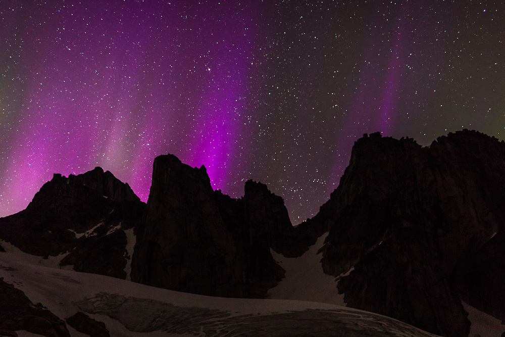 Northern Lights in East Creek, Bugaboo Provincial Park, BC