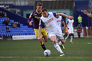 Tranmere Rovers' James Wallace in action. Skybet football league one match, Tranmere Rovers v Notts county at Prenton Park in Birkenhead, England on Saturday 15th March 2014.<br /> pic by Chris Stading, Andrew Orchard sports photography.