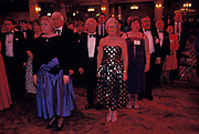 Conservative Party delegates sing 'Auld Lang Syne' during a party at the 1992 Conservative Party Conference, on 18th March 1992, in Brighton, England. Prime Minister of the day, John Major went on to win the election weeks later and was the fourth consecutive victory for the Tory Party although it was its last outright win until 2015 after Labour's 1997 win for Tony Blair.