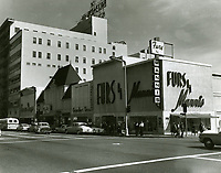 1965 Looking east at Hollywood Blvd. & Ivar St.