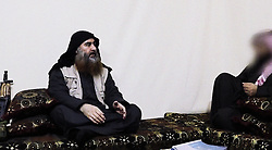 Screen grab of The chief of the Islamic State (ISIS) group Abu Bakr al-Baghdadi purportedly appears for the first time in five years in a propaganda video in an undisclosed location. The elusive chief of the IS group al-Baghdadi has appeared for the first time in five years in a propaganda video released on April 29 by the jihadist organisation. It is unclear when the footage was filmed, but Baghdadi referred in the past tense to the months-long fight for Baghouz, IS's final bastion in eastern Syria, which ended last month. Photo by Salampix/ABACAPRESS.COM
