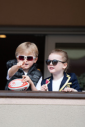 TABLOID OUT WEB & PRINT - Crown Prince Jacques of Monaco and Princess Gabriella of Monaco attend the Sainte Devote Rugby Tournament at Louis II Stadium in Monaco, on May 11, 2019. Photo by David Niviere/ABACAPRESS.COM