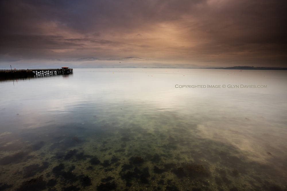 Beaumaris in Winter, on an early morning, tranquil, quiet, beautiful, COLD!