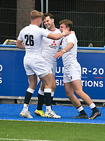Rugby Union - 2021 U20 Six Nations - Round Two - England vs Scotland - Cardiff Arms <br /> <br /> Arthur Relton England Under 20s celebrates scoring late in the game from a cross kick <br /> <br /> COLORSPORT/WINSTON BYNORTH