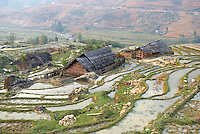 Vietnam. haut Tonkin. Region de Sapa. Rizières. // Vietnam. North Vietnam. Sapa area. Rice fields.