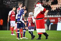 Cedric BARBOSA / Le Pere Noel  - 13.12.2014 - Reims / Evian Thonon  - 18eme journee de Ligue1<br />Photo : Fred Porcu / Icon Sport