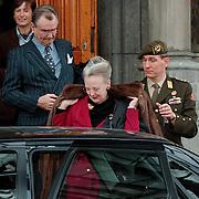 Koninging Margarethe en Prins Hendrik van Denemarken bezoeken het Rijksmuseum